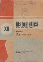 Matematica, Manual pentru clasa a XII-a - Elemente de analiza matematica