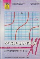 Matematica - Manual pentru clasa XI-a (pentru programele M1 si M2)