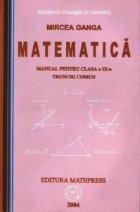 Matematica - Manual pentru clasa a IX-a (trunchi comun)