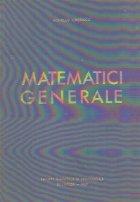 Matematici generale, Volumul I