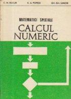 Matematici speciale - Calcul numeric