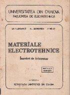 Materiale electrotehnice - Lucrari de laborator