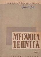 Mecanica tehnica Volumul Mecanica teoretica