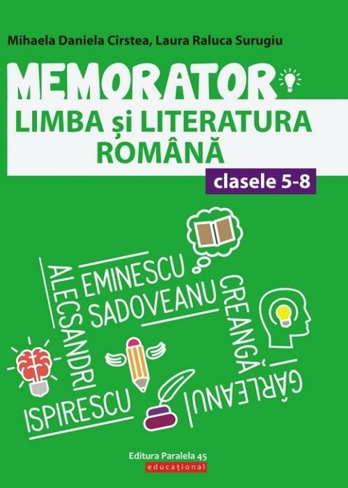 Memorator de limba şi literatura română pentru clasele V-VIII