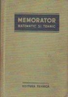 Memorator matematic si tehnic