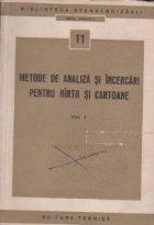 Metode de analiza si incercari pentru hirtii si cartoane, Volumul I