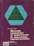 Metode numerice si matriceale in mecanica constructiilor