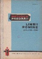 Metodica predarii limbii romane (citit-scris, citire)