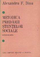 Metodica predarii stiintelor sociale (Bibliografie)