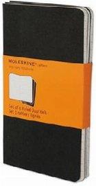 Moleskine Ruled Cahier - Black Cover (3 Set)