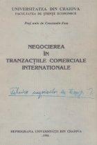 Negocierea in tranzactiile comerciale internationale