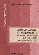Nomenclatorul de medicamente si produse biologice de uz uman pentru anul 1983