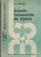 Notiunile fundamentale ale algebrei