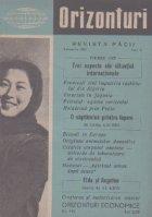Orizonturi - Revista Pacii, Februarie 1961