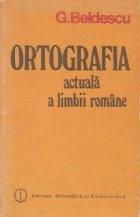 Ortografia actuala limbii romane