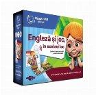Pachet Engleza si joc, in acelasi loc: Creionul electronic Albi si carte interactiva