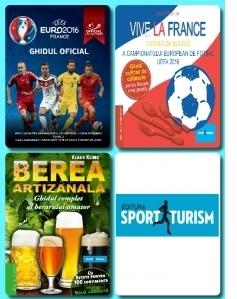 Pachet promotional 3 carti Editura Sport-Turism: Ghidul Oficial UEFA Euro 2016  + Vive la France - Cartea de bucate a UEFA Euro 2016 + Berea artizanala (3 carti)