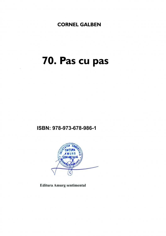 70 - Pas cu pas
