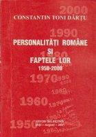 Personalitati romane si faptele lor 1950-2000, Volumul al II-lea