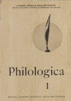Philologica, I