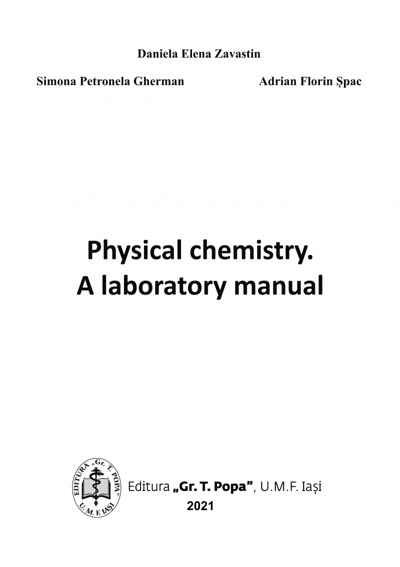 Physical chemistry : a laboratory manual