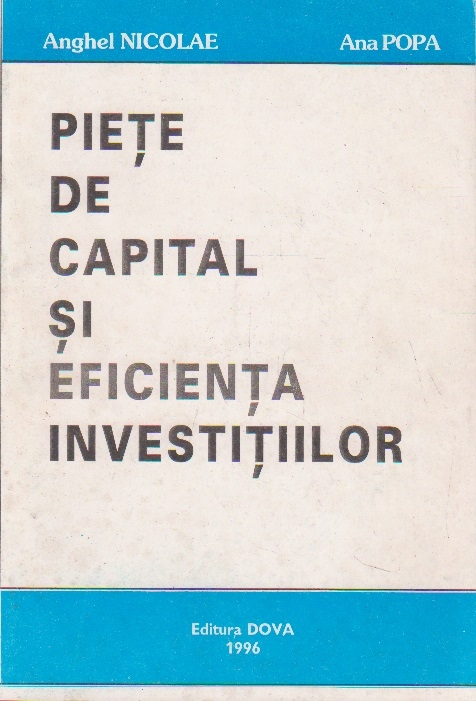 Piete de capital si eficienta investitiilor