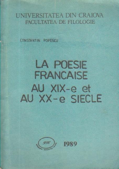 La poesie francaise au XIX-e et au XX-e siecle