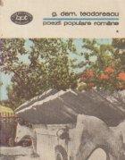 Poezii populare romane, Volumul I