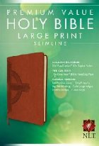 Premium Value Slimline Bible-NLT-Large Print Cross