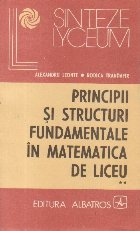 Principii structuri fundamentale matematica liceu