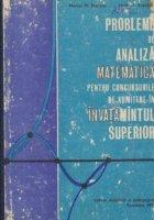 Probleme de analiza matematica pentru concursurile de admitere in invatamintul superior