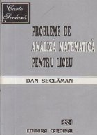 Probleme de analiza matematica pentru liceu