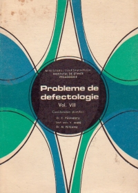 Probleme de defectologie, VIII