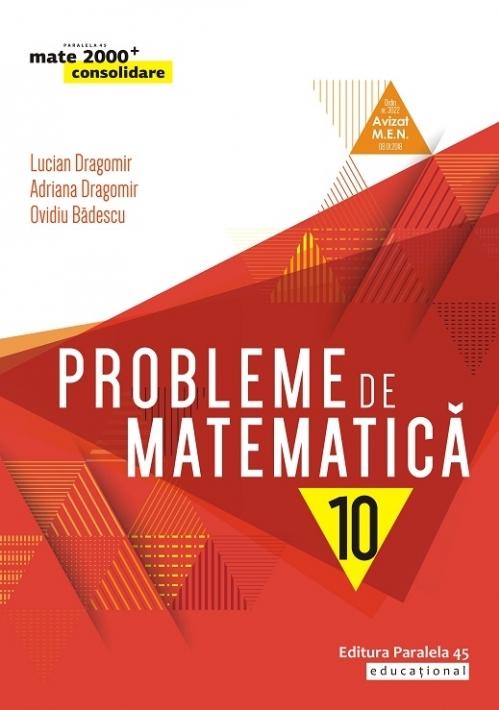 Probleme de matematică pentru clasa a X-a