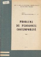 Probleme pedagogie contemporana Volumul III