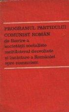 Programul Partidului Comunist Roman faurire