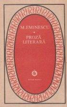 Proza literara Mihai Eminescu