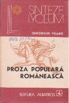 Proza Populara Romaneasca - Studiu stilistic