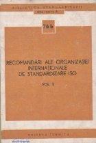 Recomandari ale organizatiei internationale de standardizare ISO, Volumul al II-lea