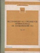 Recomandari ale organizatiei internationale de standardizare ISO, Volumul al IV-lea