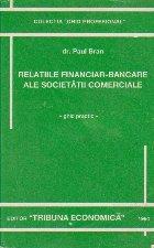 Relatiile financiar bancare ale societatii