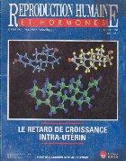 Reproduction humaine et hormones, Octobre 1997