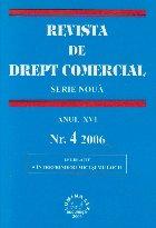 Revista de Drept Comercial, Anul XVI, Nr. 4/2006