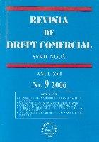 Revista de Drept Comercial, Anul XVI, Nr. 9/2006