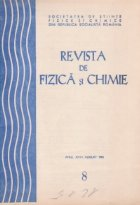 Revista fizica chimie August 1981