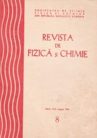 Revista de fizica si chimie, August 1980