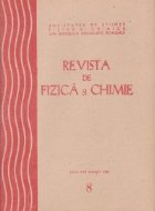 Revista de Fizica si Chimie, August 1984