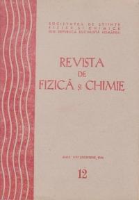 Revista de Fizica si Chimie, Decembrie 1984