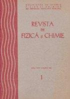 Revista de Fizica si Chimie, Ianuarie 1981