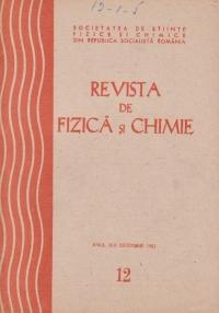Revista de Fizica si Chimie, Decembrie 1982